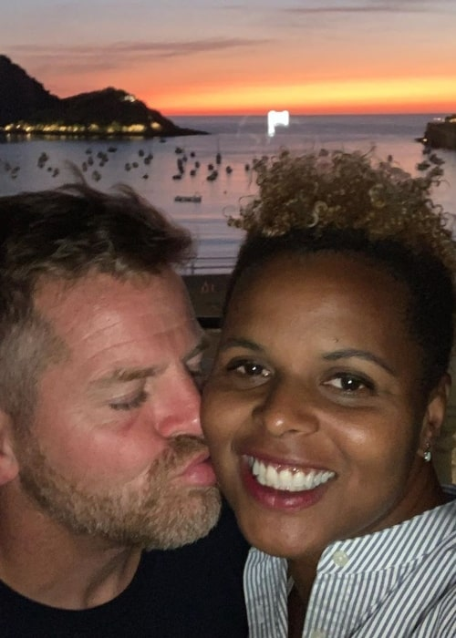 Karina LeBlanc as seen in a selfie taken with her husband Jason in August 2019