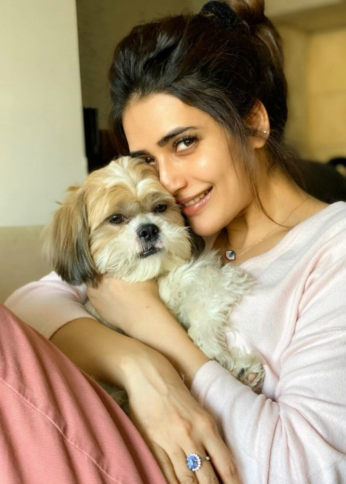 Karishma Tanna with her dog as seen in December 2019