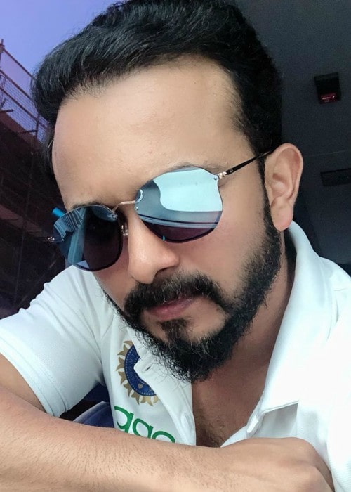 Kedar Jadhav in an Instagram selfie as seen in June 2019