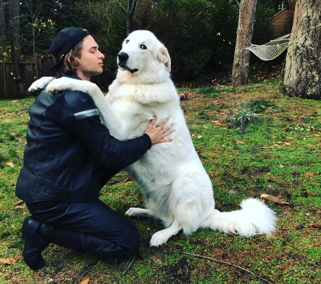 Keenan Tracey as seen in a picture with his dog in December 2017