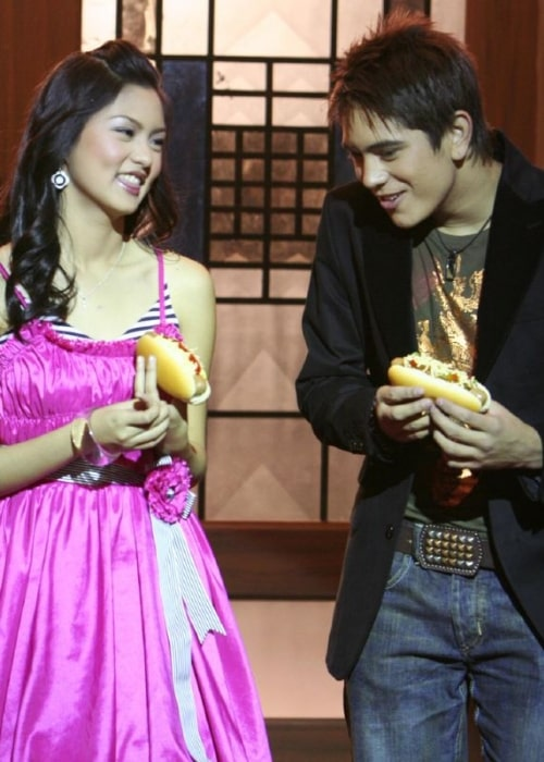 Kim Chiu as seen in a picture along with Gerald Anderson in 2006 during a Jollibee commercial