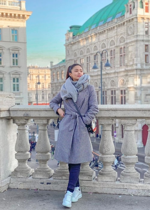Kim Chiu as seen while posing for a picture in Vienna, Austria in February 2020