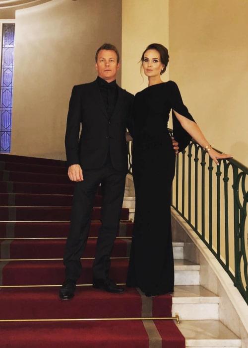 Kimi Räikkönen and Minna-Mari Virtanen, as seen in December 2018