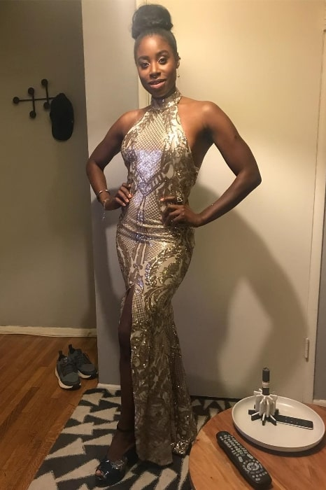 Kirby Howell-Baptiste as seen while wearing a stunning dress for the Golden Globes in January 2019