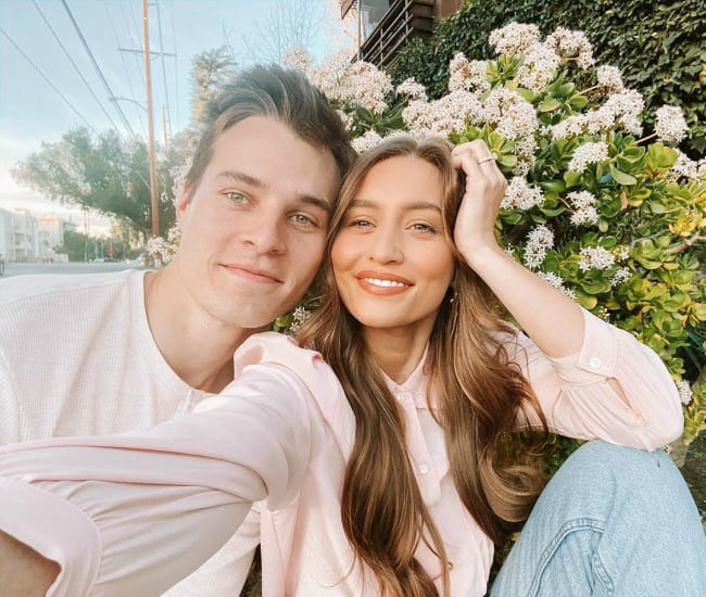 Kristin Johns and Marcus Johns in a selfie in January 2020