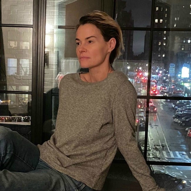 Leisha Hailey in an Instagram post as seen in December 2019