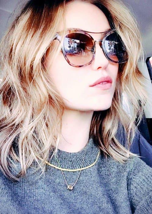 Lili Simmons in an Instagram selfie as seen in December 2018