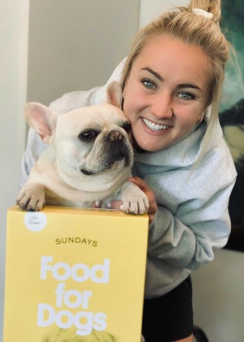 Lindsey Horan with her dog as seen in November 2020