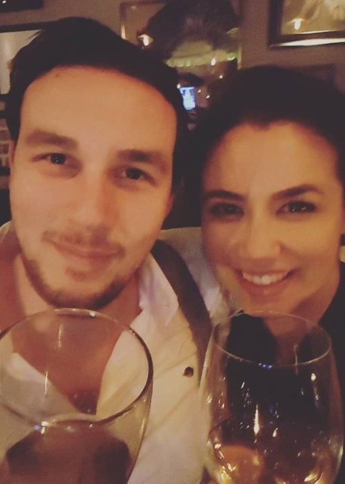 Luisa D'Oliveira as seen in a picture taken with her beau in Jez Bonham in February 2017