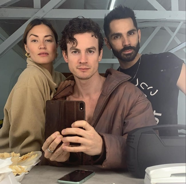 Luke Cook as seen while taking a mirror selfie along with Kara Wilson and Sosa in February 2020