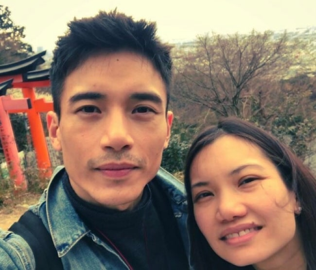 Manny Jacinto in a selfie alongside his sister in March 2017