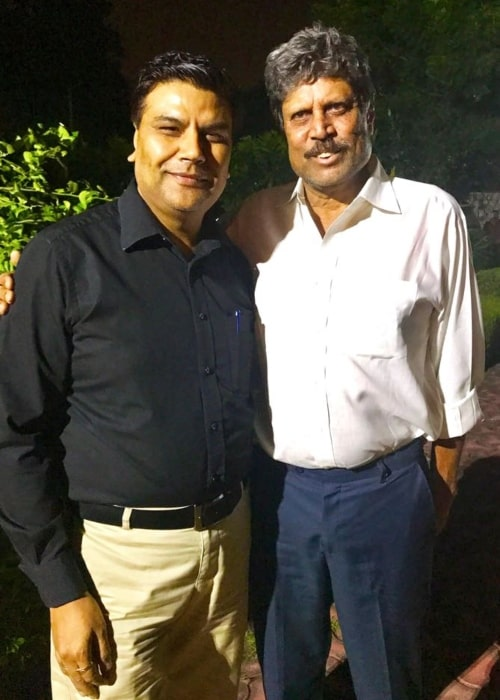 Manoj Tyagi as seen in a picture taken with Kapil Dev on August 18, 2017