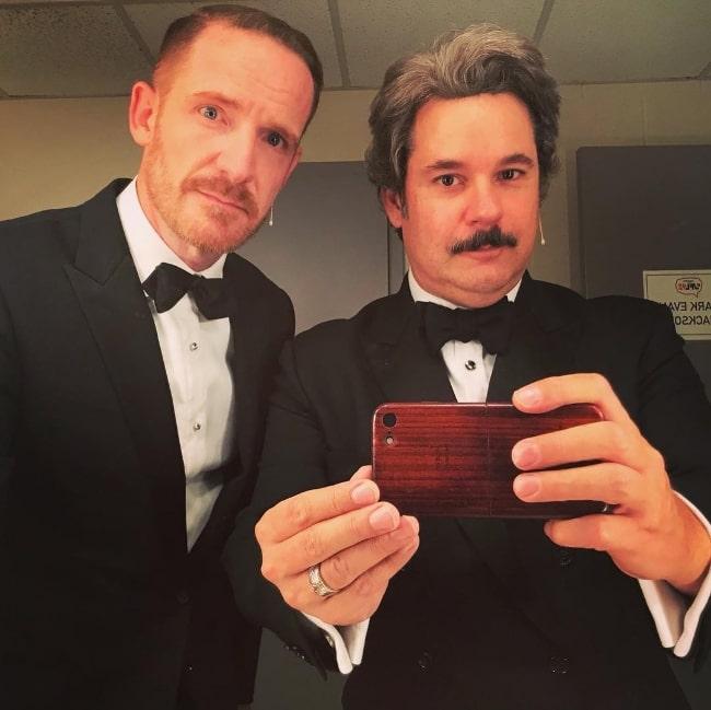 Marc Evan Jackson (Left) in a mirror selfie alongside Paul F. Tompkins in December 2018