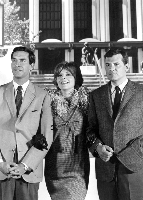 Martin Landau as seen in a picture with Barbara Bain and Steven Hill from the television series Mission_ Impossible on October 31, 1967