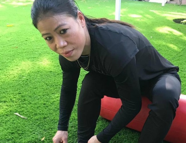 Mary Kom in an Instagram post as seen in April 2019