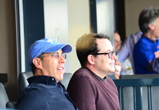 Matthew Broderick (Right) and Jerry Seinfeld as seen in September 2012