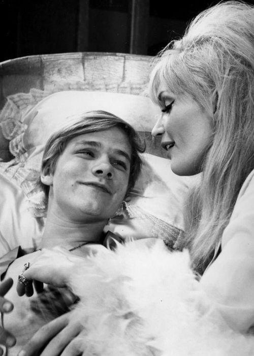 Matthew Cowles performing with actress Jennifer West in the 1966 play Malcolm