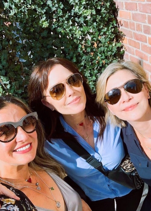 Maxim Roy as seen in a selfie taken with her friends Angela Asher and Luma at the Soho House Toronto in September 2019