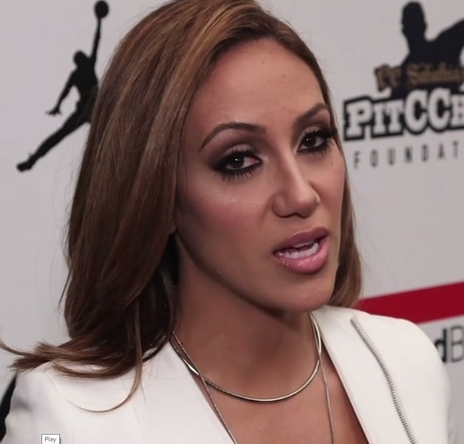 Melissa Gorga while being interviewed by Arthur Kade of 'Behind the Velvet Rope' TV at the Kids Rock! Show during New York Fashion Week in February 2016