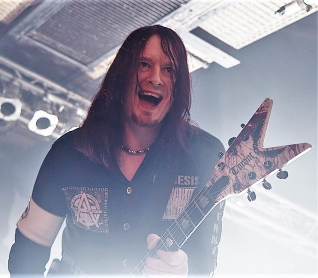 Michael Amott as seen during an event in 2012