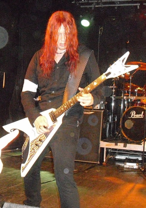 Michael Amott as seen while performing with Arch Enemy at The Untouchables Hard Rock Club in Jevnaker, Norway in April 2010