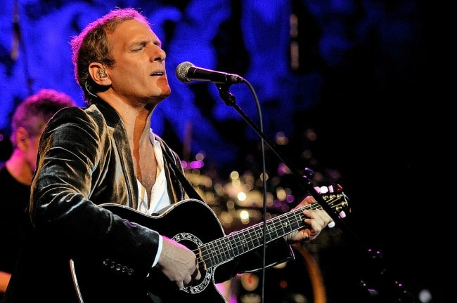 Michael Bolton during a performane in January 2010