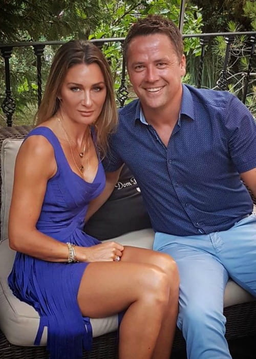 Michael Owen and Louise Bonsall as seen in June 2019