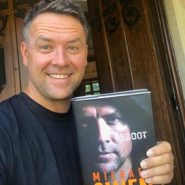 Michael Owen in a selfie as seen in August 2019