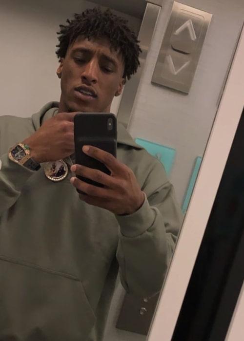 Michael Thomas as seen in a selfie taken in February 2020