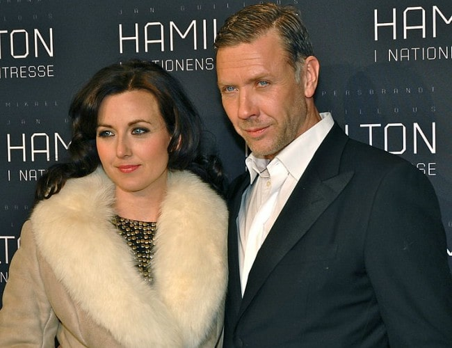 Mikael Persbrandt and Sanna Lundell as seen in January 2012