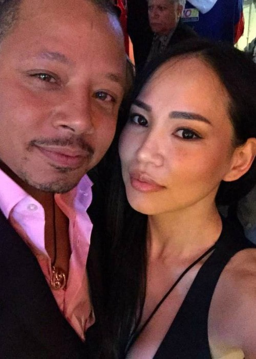 Mira Pak and Terrence Howard in a selfie
