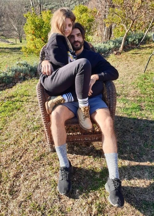 Miriam Giovanelli as seen in a picture with her beau architect Xabi Ortega in January 2019