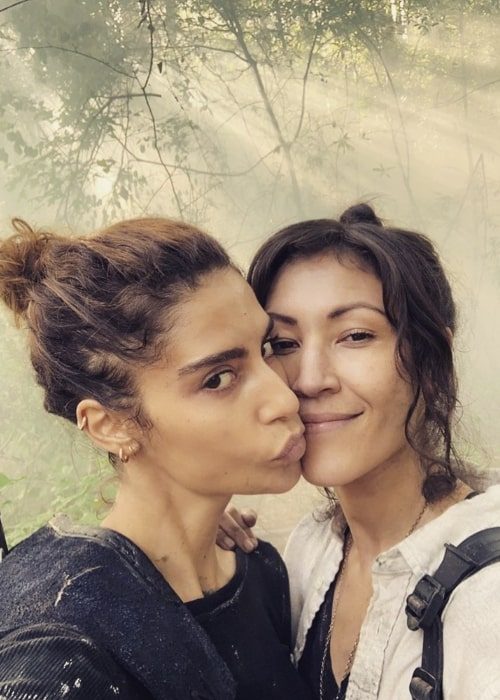 Nadia Hilker (Left) as seen while taking a selfie along with Eleanor Matsuura in October 2019