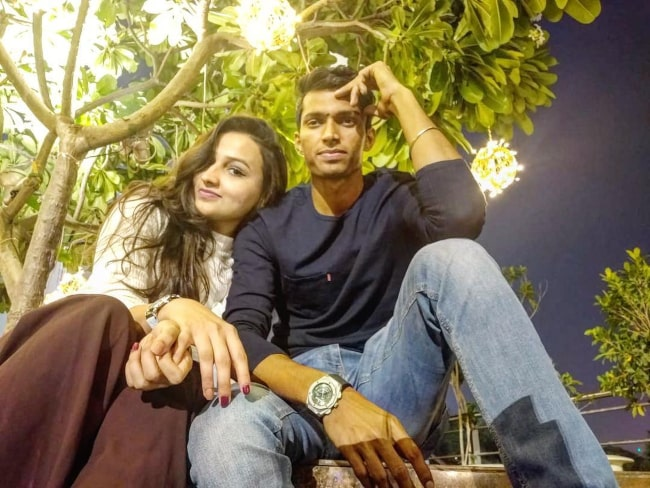 Navdeep Saini and Pooja Bijarnia as seen on Valentine's day in 2019