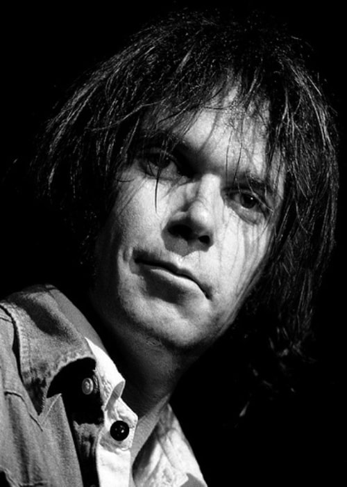 Neil Young as seen in a concert on November 9, 1976, in Austin, Texas