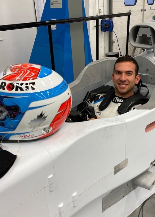 Nicholas Latifi as seen in a picture taken at the factory during the formation of his Formula One car seat for the Williams F1 Team in January 2020