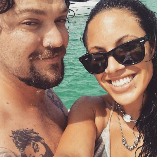 Nicole Boyd and Bam Margera in a selfie in August 2019