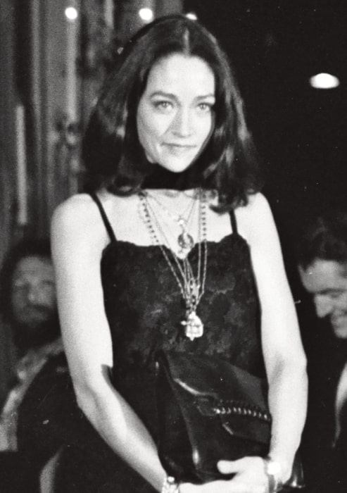 Olivia Hussey as seen in a black-and-white picture taken in 1979
