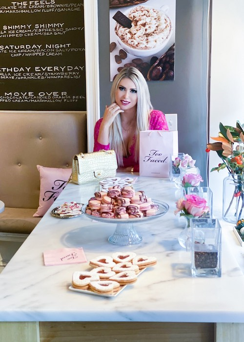 Olyasha in a partnership with TooFaced, Atlanta, Georgia