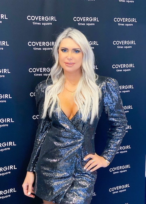 Olyasha in partnership with Covergirl, New York Times Square store during a private event