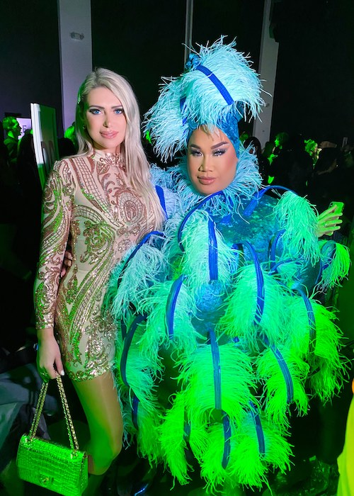 Olyasha with Patrick Starrr at Christian Cowan fashion show during NYFW 2020