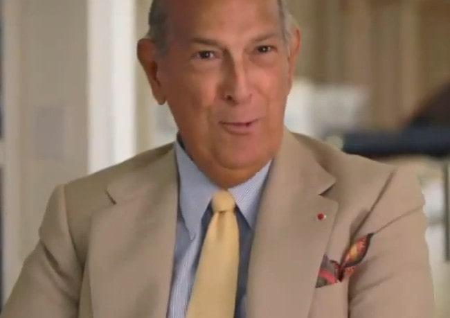 Oscar de la Renta during an interview as seen in October 2014