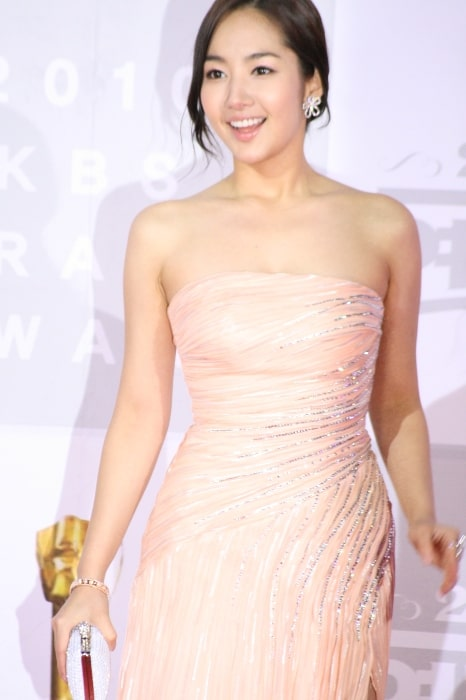 Park Min-young as seen while smiling in a picture taken at the 2010 KBS Drama Acting Awards