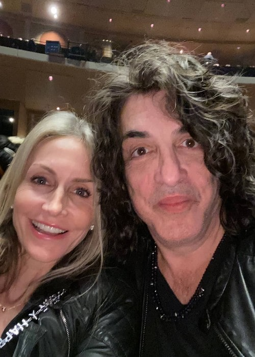 Paul Stanley with his wife as seen in January 2020