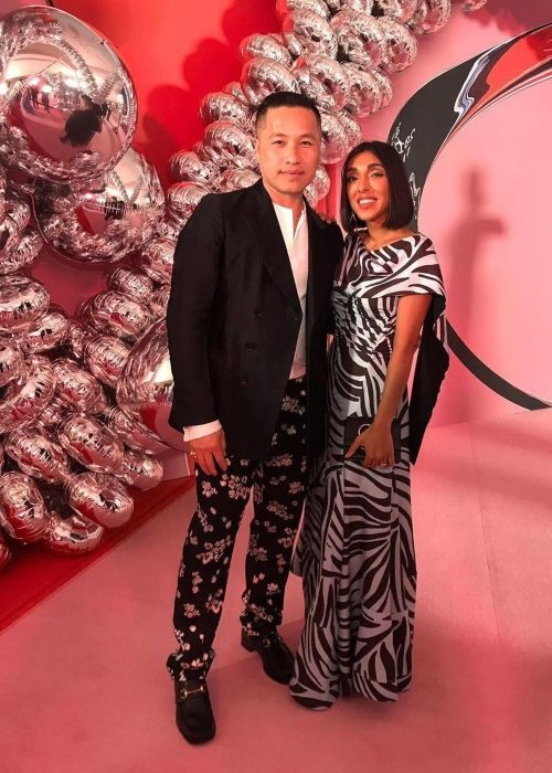 Phillip Lim seen with poet Rupi Kaur at the CFDA Awards in June 2019