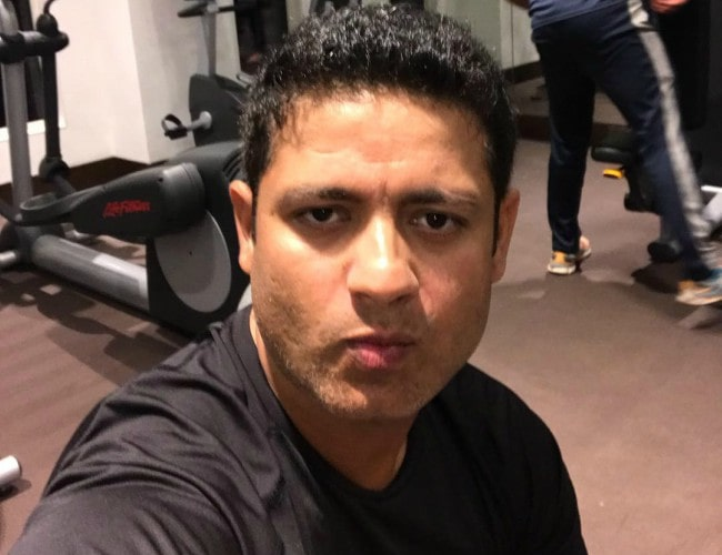 Piyush Chawla in an Instagram selfie as seen in February 2019