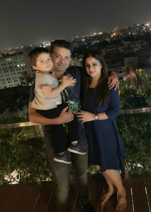 Piyush Chawla with his family as seen in October 2019