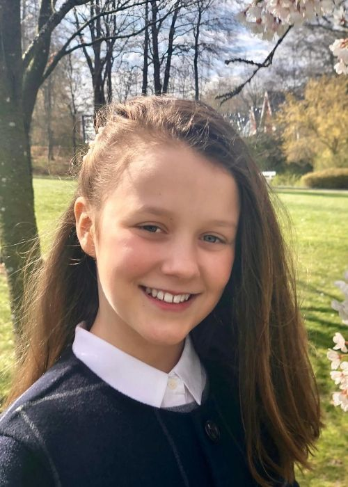Princess Isabella of Denmark as seen on her 12th birthday on April 21, 2019