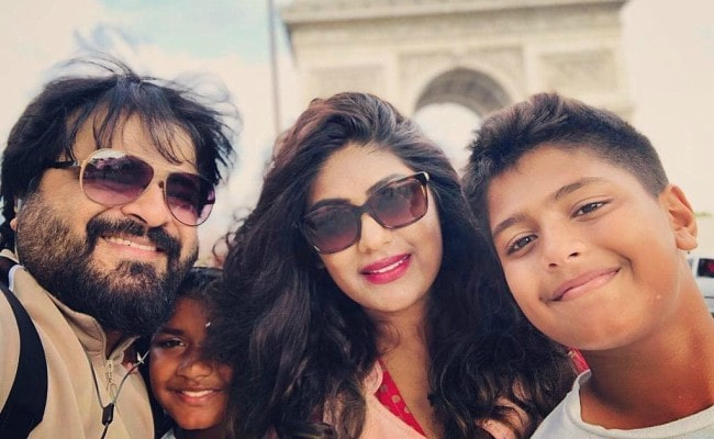 Pritam Chakraborty with his family as seen in August 2019
