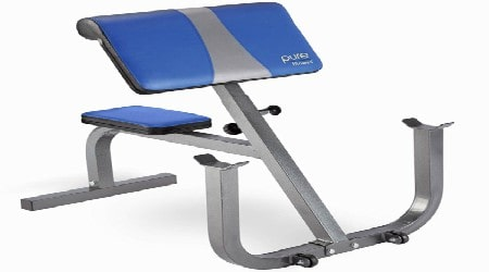 Pure Fitness Preacher Curl Weight Bench Review